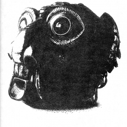 Tibetan Decorated Monkey Skull